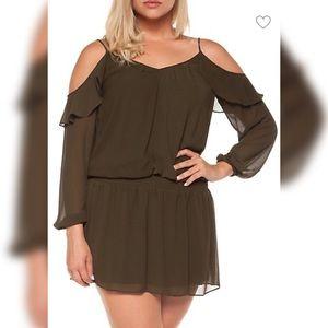Dex Cold Shoulder Top Dress Size Small